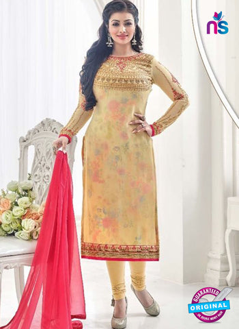 AZ 4067 Beige Georgette Party Wear Suit