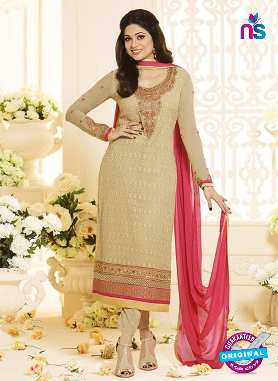 Vivek Fashion 1007 Beige Georgette Designer Suit