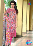 SC 14093 Pink Lawn Cotton Exclusive Fancy Designer Straight Suit