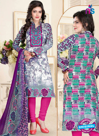SC 13024 Multicolor and Pink Printed Cambic Pakistani Suit