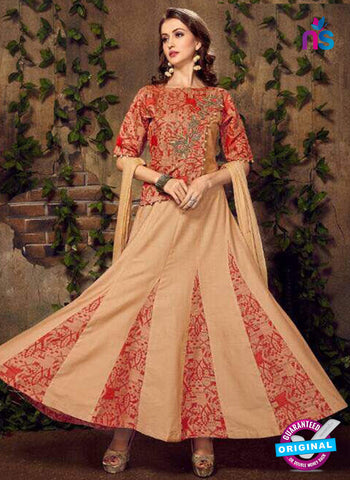 Fashion Beauty 1007 Beige Anarkali Suit