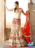 AZ 2008 Beige Net Embroidered Party Wear Lehenga