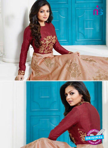 Lt 1007 Beige Anarkali Suit