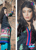 NS10056 Black and Multicolor Cotton Lawn Kurti