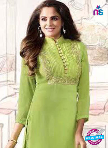 LT 1007 Green Party Wear Kurti