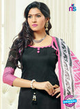 SC 13874 Black and Pink Banarasi Jacquard Latest Designer Fancy Straight Suit