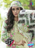 SC 12987 Green, Pink and White Lawn Cotton Pakistani Suit