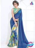 AZ 2005 Blue and Multicolor Georgette Fancy Formal Saree