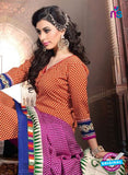 NS11198 Orange and Purple Daily Wear Heavy Banglori Printed Salwar Suit