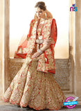 AZ 2009 Orange Dhupion Embroidered Party Wear Lehenga
