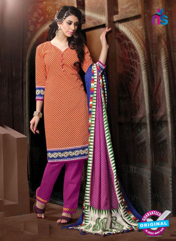 NS11198 Red and Purple Daily Wear Heavy Banglori Printed Salwar Suit