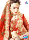 AZ ESZ 2009 Orange Dhupion Embroidered Party Wear Lehenga