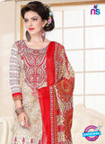 SC 13025 Beige and Orange Printed Cambic Pakistani Suit Online