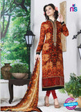 AZ 3497 Orange French Crepe Formal Suit - Salwar Suits - NEW SHOP