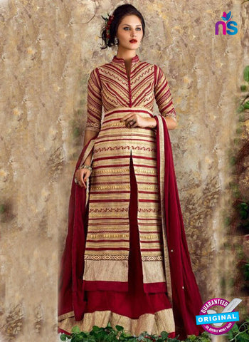 Nigar 1009 Golden Indo Western Suit