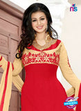 NS10120 Red and Brown Party Wear Georgette Anarkali Suit