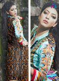 NS10058  Blue and Black Cotton Lawn Kurti