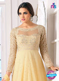 NS10650 Beige Pure Georgette Designer Suit