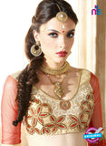 AZ ESZ 2010 Beige Net Embroidered Party Wear Lehenga