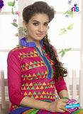 SC 12659 Multicolor and Blue Designer Heavy Chanderi with Embroidered Plazo