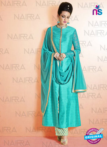 AZ 2116 Sea Green Bhagalpuri Net Party Wear Suit