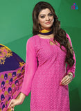 NS11505 DarkMagenta Party Wear Georgette Staight Suit