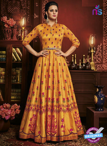 Chahat 10100 Yellow Anarkali Suit
