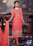 NS10441 Pink Brasso Straight Suit