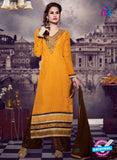 NS10448 Yellow and Brown Brasso Straight Suit