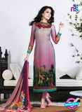 AZ 3498 Purple French Crepe Embriodery Formal Suit - Salwar Suits - NEW SHOP
