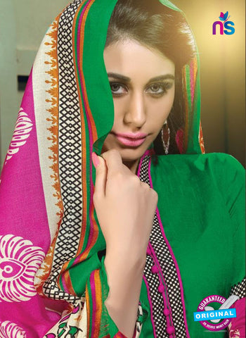 NS11200 Green and Magenta Daily Wear Heavy Banglori Printed Salwar Suit