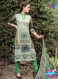 NS 124505 Multicolor and Green Printed Cotton Straight Suit