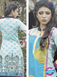 NS10059  Blue and Multicolor Cotton Lawn Kurti