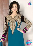 NS10121 Green Party Wear Georgette Anarkali Suit