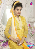 SC 12658 Yellow Designer heavy Chanderi with Embroidered Plazo