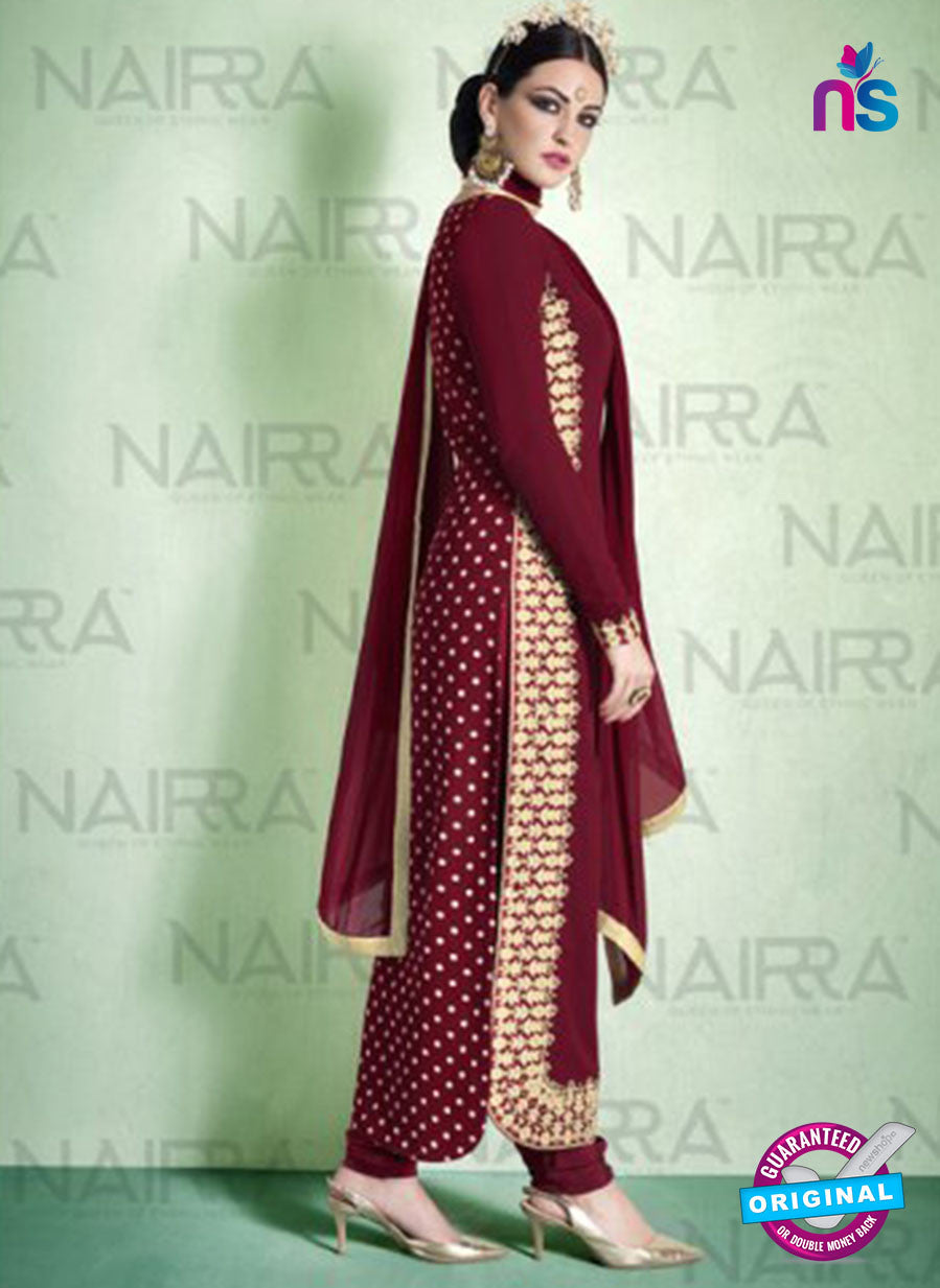 AZ 2119 Maroon Georgette  Party Wear Suit