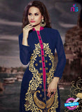 NS11189 Dark Blue and Deep Pink Faux Georgette Designer Suit Online
