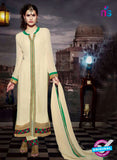 NS11186 Ivory and Sea Green Faux Georgette Designer Suit
