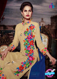 NS11188 Sandy Brown and Multicolor Faux Georgette Designer Suit Online