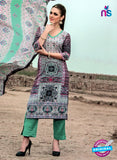 NS 124504 Multicolor and Green Printed Cotton Straight Suit
