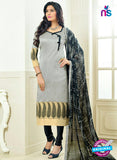 SC 13875 Grey and Black Banarasi Jacquard Latest Designer Fancy Straight Suit