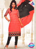 NS11038 Rose Pink and Black Party Wear Russel Net Salwar Suit