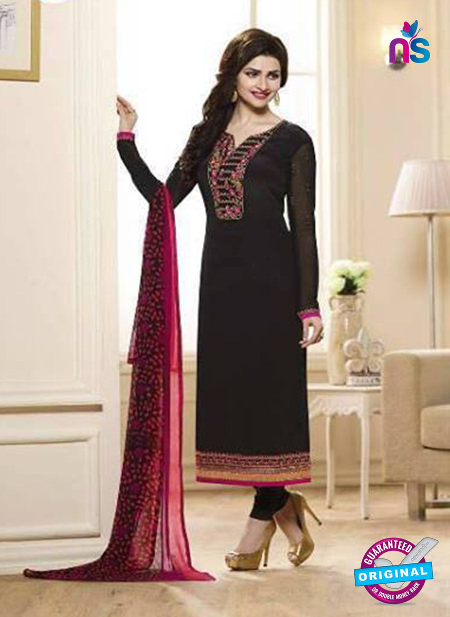 Vinay Fashion 3848 Black Embroidered Crape and Georgette Party Wear Straight Suit