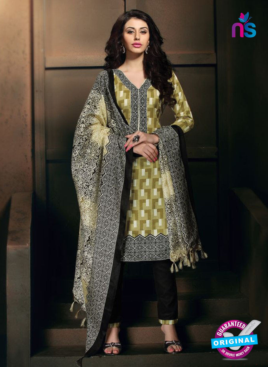 NS11201 Olive Green and Black Daily Wear Heavy Banglori Printed Salwar Suit