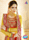 AZ ESZ 2012 Pink and Orange Dhupion Embroidered Party Wear Lehenga