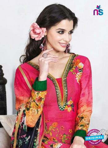 AZ 3499 Pink and Yellow French Crepe  Formal Suit