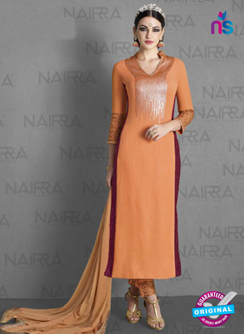Nairra 1012A Orange Georgette Party Wear Suit