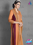 Nairra 1012A Orange Georgette Party Wear Suit Online