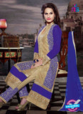 NS11181 Sandy Brown and Purple Blue Faux Georgette Designer Suit Online