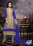 NS11181 Sandy Brown and Purple Blue Faux Georgette Designer Suit
